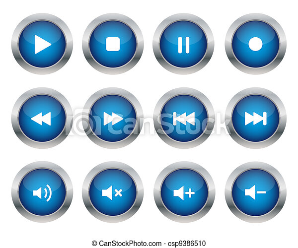 Multimedia buttons - csp9386510