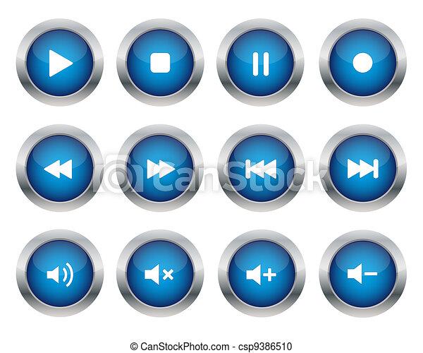 Multimedia buttons - csp9386510