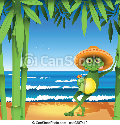 frog on the beach - csp9387419