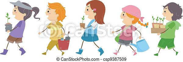 Gardening Kids - csp9387509