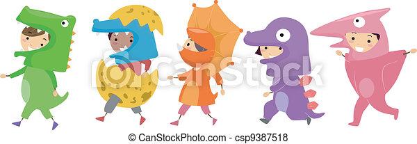 Dinosaur Costumes - csp9387518