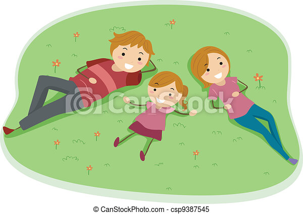 Family Relaxation - csp9387545