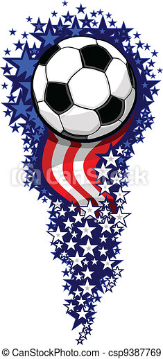 Soccer Firework with Flags and Stars - csp9387769