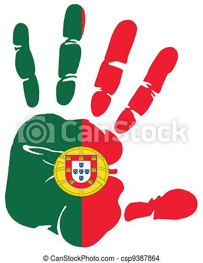 Eps vector van handprint portugal csp9387864 zoek naar - Dessin portugal ...