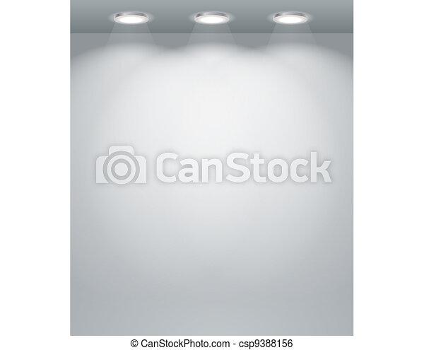 Illuminated empty wall template - csp9388156