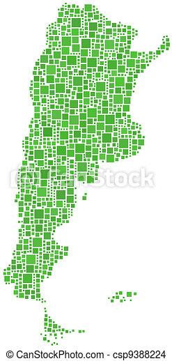 Map of Argentina (Latin America) - csp9388224