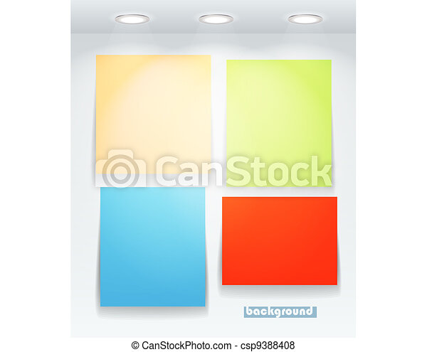 Colorful illuminated boards - csp9388408
