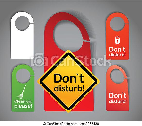 Hotel door signs - csp9388430