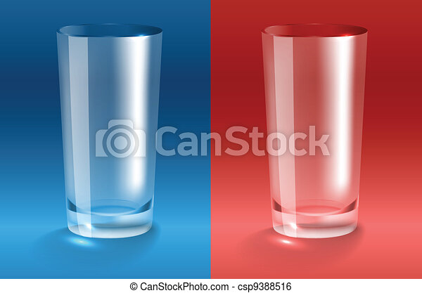 Empty glass. Transparent gradient m - csp9388516