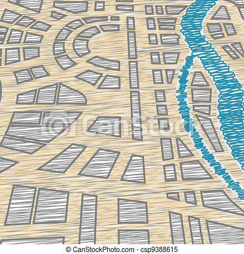 Background of city map - csp9388615