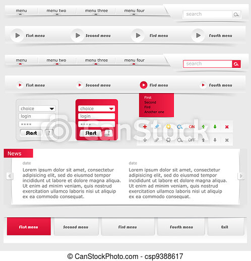 Web site template - csp9388617