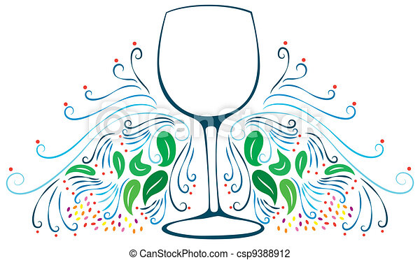 Decorative Wine Glass - csp9388912