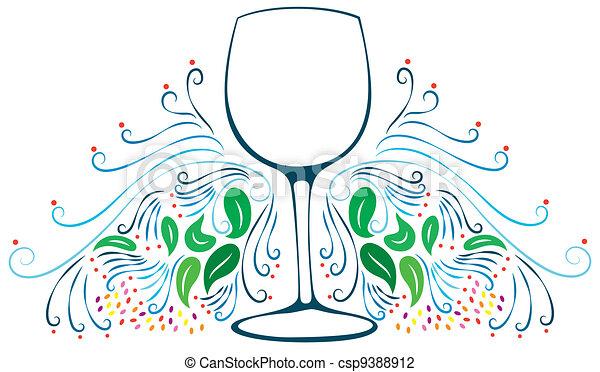 Decorative Wine Glass - csp9388912