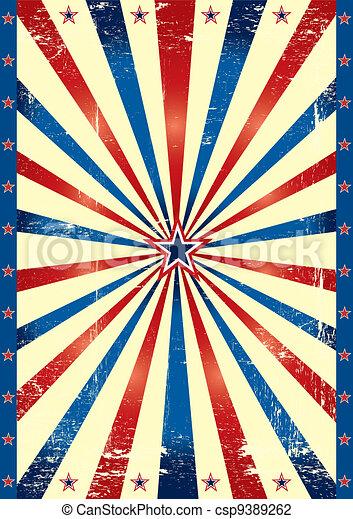 Tricolor US grunge paper - csp9389262