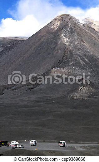 The peak of Mount Etna - csp9389666