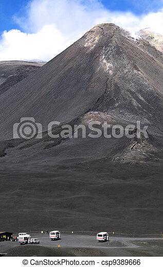 The peak of Mount Etna - csp9389666