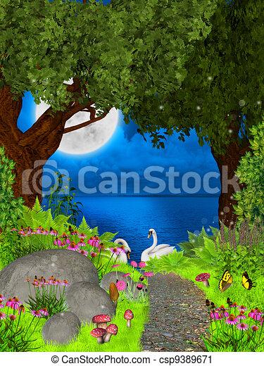 fairy night - csp9389671