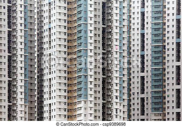 images de hong appartement public bloc kong public appartement csp9389698. Black Bedroom Furniture Sets. Home Design Ideas