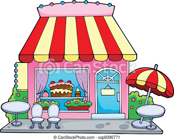Cartoon candy store - csp9390771