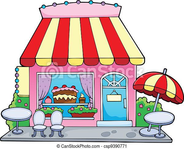 Cartoon candy store - csp9390771
