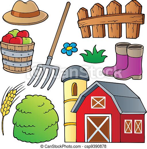 Farm theme collection 1 - csp9390878