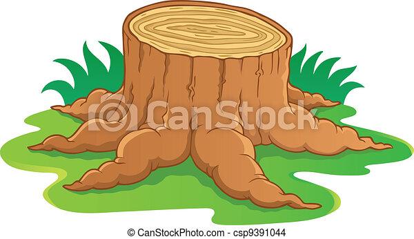 Image with tree root theme 1 - csp9391044