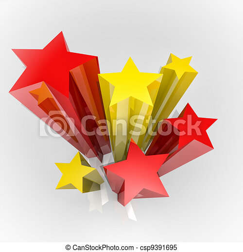 Stars with flag colours - csp9391695