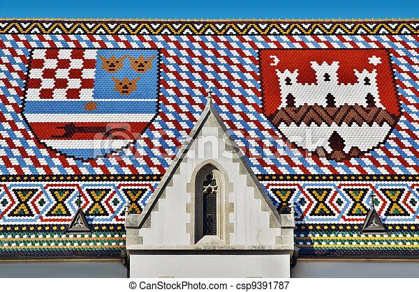 Saint Mark Church Roof - csp9391787