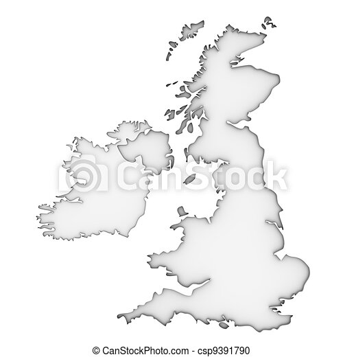 United Kingdom map - csp9391790