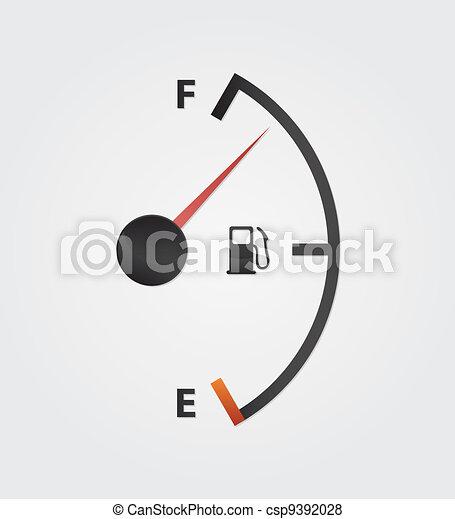 white gas full meter - csp9392028