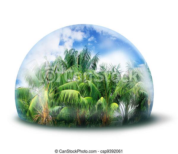 Protect jungle natural environment concept - csp9392061