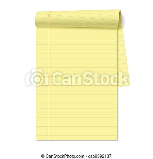 Blank legal pad - csp9392137