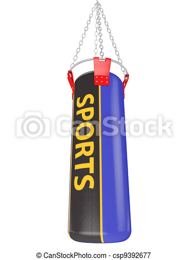Boxing bag  - csp9392677