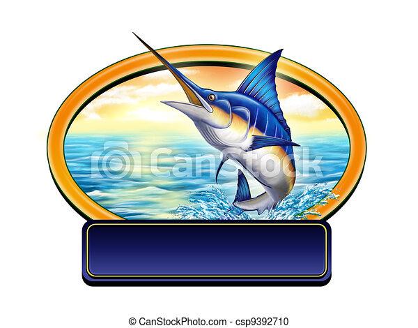 Fishing label - csp9392710