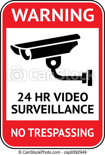 Video surveillance, cctv label - csp9392949