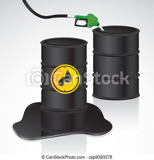 oil and gasoline gallons - csp9393378