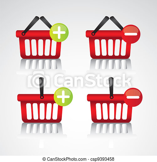 purchase baskets, to virtual store - csp9393458
