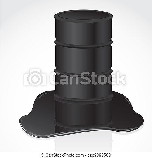 petroleum spill and gallon - csp9393503