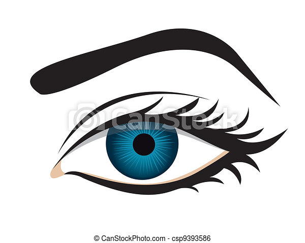 detailed eye lashes and eyebrow - csp9393586