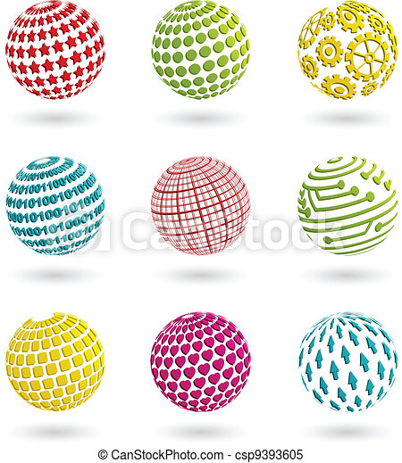 Color planet icons - csp9393605