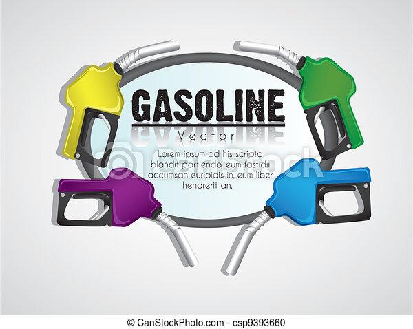 background gas pumps  - csp9393660