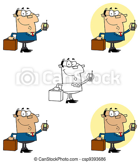 Businessman Holding A Briefcase - csp9393686