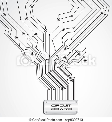 vectors of circuit board on white background vector With circuit board lines