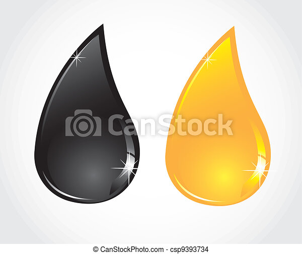 petroleum and oil droplets - csp9393734
