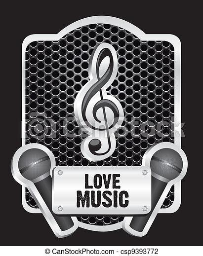 musical metal label - csp9393772