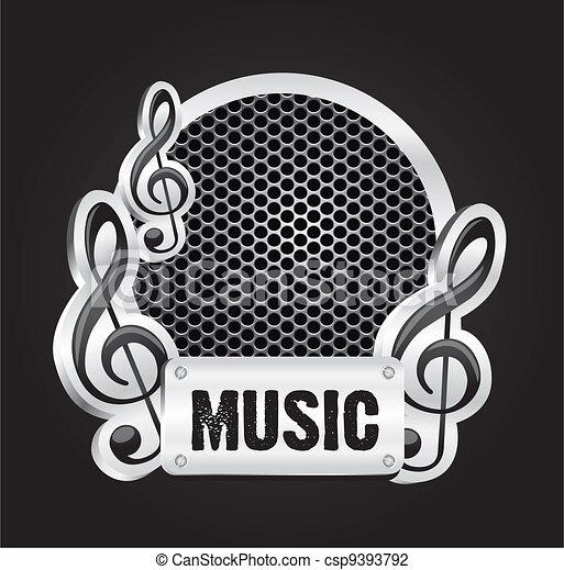 musical metal label - csp9393792