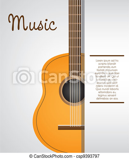 acoustic guitar background - csp9393797