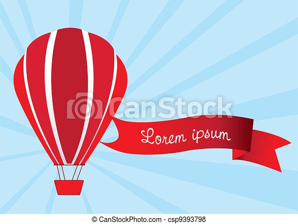 hot air balloon  - csp9393798