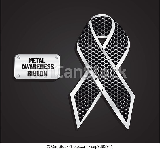 Metal awareness ribbon  - csp9393941