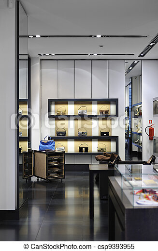 Interior of a modern boutique store - csp9393955